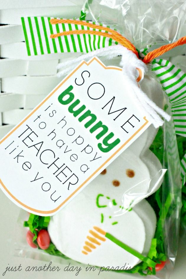 Easter Teacher Appreciation Tags - how cute are these?