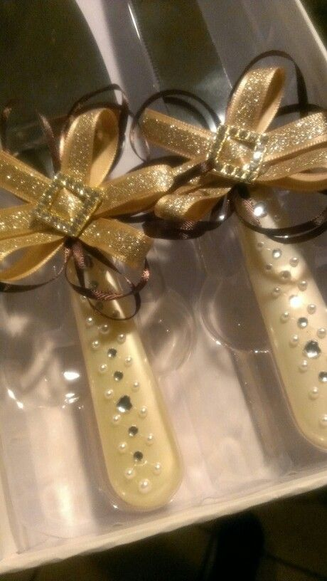 Wedding Cake Knife Bows Diy And Server Gold Pearls Juana