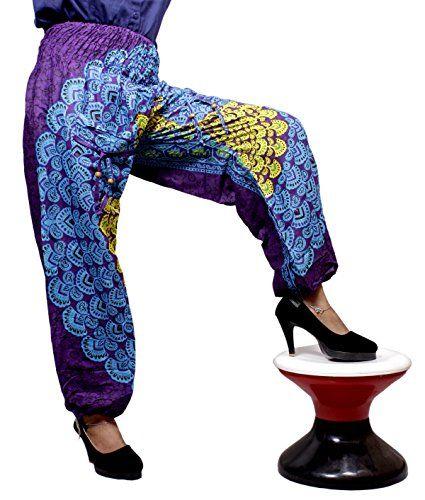 Krishna Mart Rayon Chakra Baggy Genie Harem Pants Boho Hippie Gypsy Yoga India (Purple) Krishna Mart India http://www.amazon.com/dp/B014HAH3LM/ref=cm_sw_r_pi_dp_HH.xwb1FH0YVF