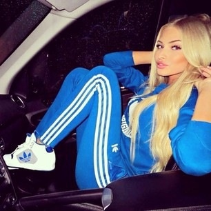 Alena shishkova- love the track suit