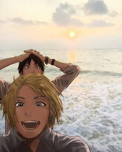 OMG!! Yes! So cute ❤️❤️ *And then they both shift into their titan form and play in the ocean like a bath tub *