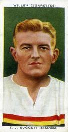1935-36 W.D. & H.O. Wills Association Footballers #43 Ernie Suggett Front