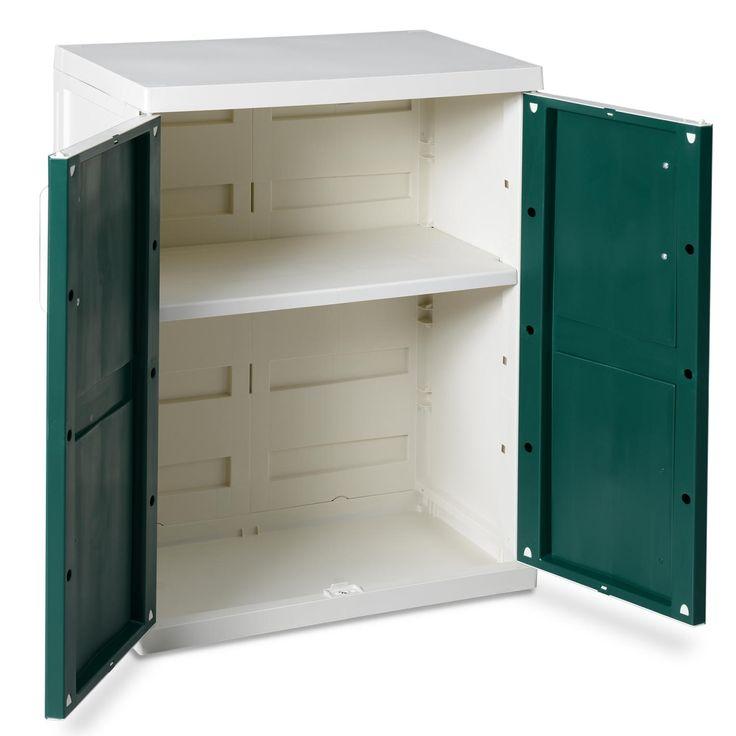 Rubbermaid Plastic Storage Cabinet 36x18x37
