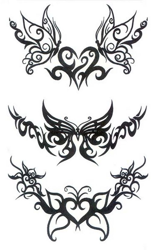 Tribal Butterfly Tattoos Designs: Modification Tribal Butterfly Tattoo ~ Tattoo Design Inspiration