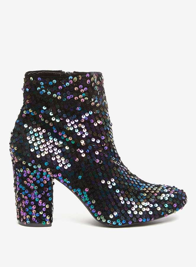 Dorothy Perkins Multi Coloured 'Aries' Sequin Embellished Ankle Boots