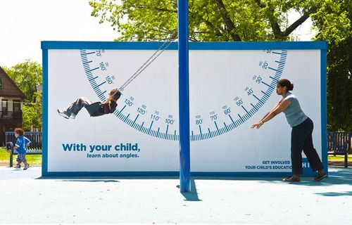 """""""Get involved with your children's education"""". Wise advice and smart billboard.   good advertising makes me happy."""