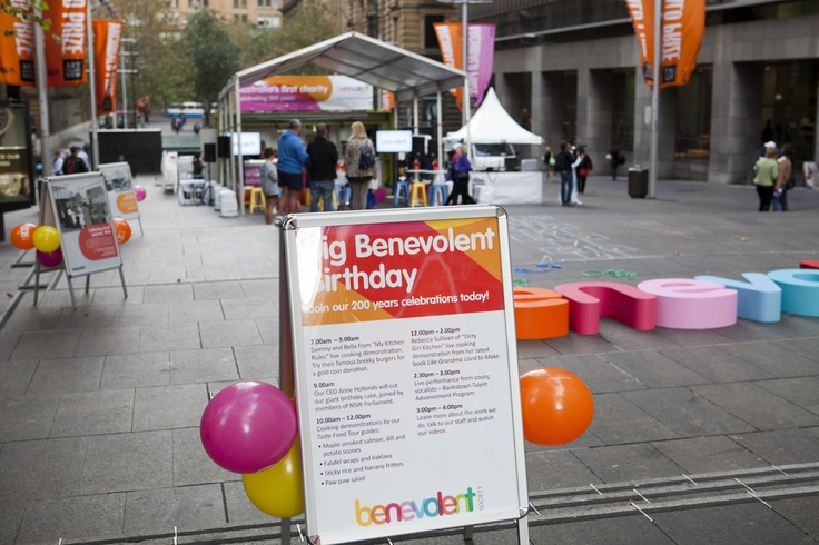 The Benevolent Society's 200 years celebration in Martin Place, May 8th 2013.
