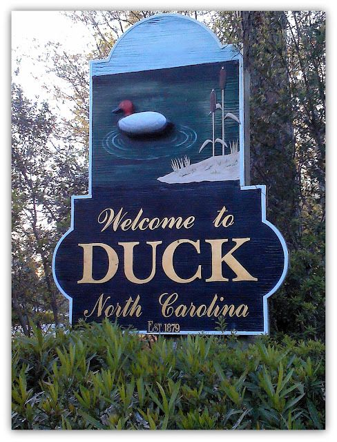 Duck, North Carolina ~ A quiet, charming seaside town on the northern Outer Banks ~ seven miles of clean beaches, miles of bike path, a walkable village center, wide uncrowded beaches and lots of water sports!