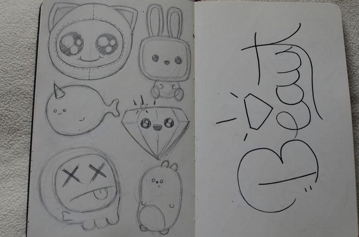 character doodles. Beaut moleskine