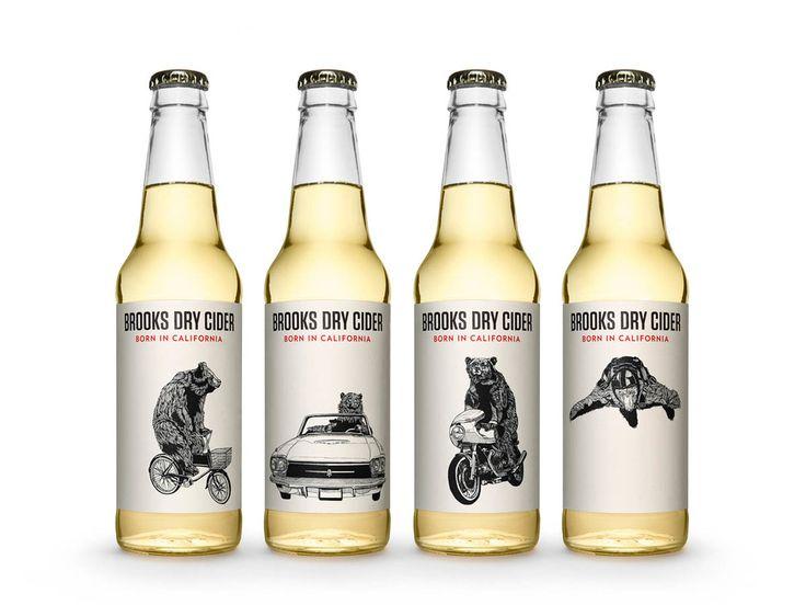 The Dieline Awards 2015: 2nd Place Beer, Malt Beverages, Tobacco: Brooks Dry Cider — The Dieline - Package Design Resource
