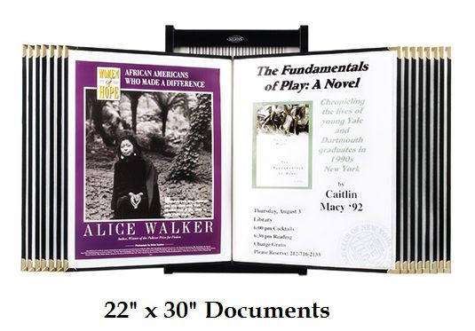 """Wall Poster Display (22"""" x 30"""") Includes: 15 or 25 Poster Sleeves"""