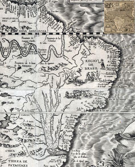 Mapa Diego Gutiérrez - Mapas antigos do Brasil <3                                                                                                                                                                                 Mais