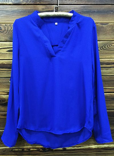 We love a little friendly competition. Get this royal blue blouse at FIREVOGUE.COM