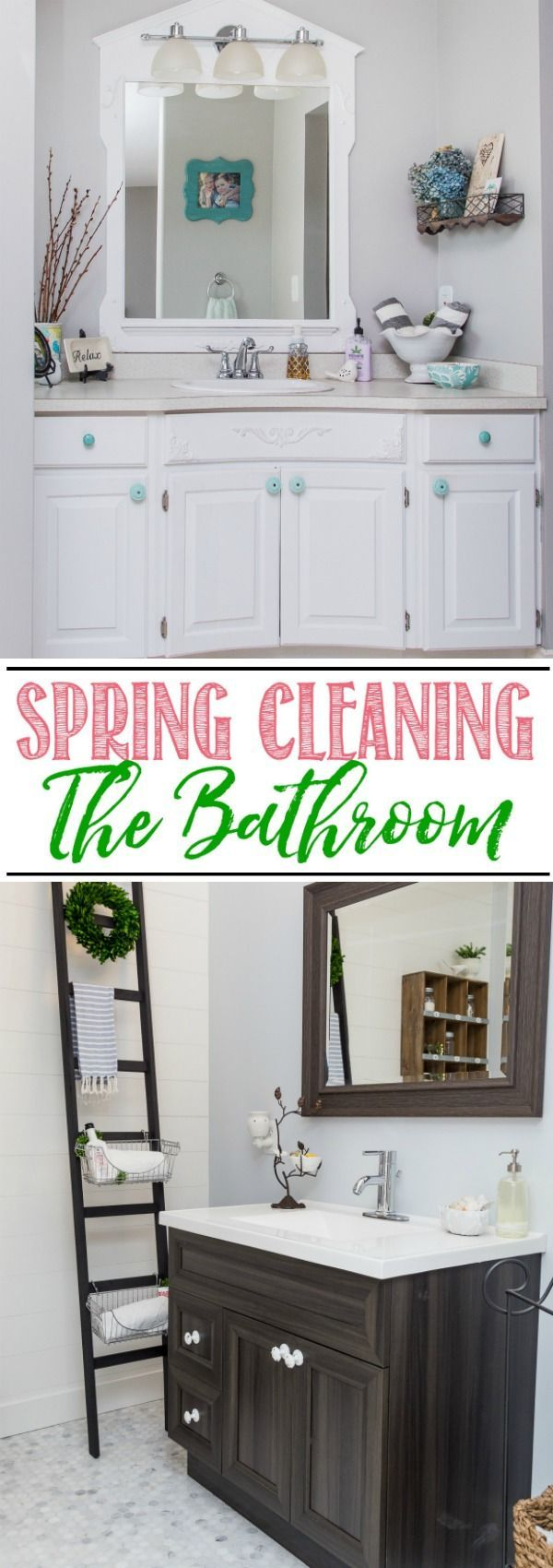 Bathroom Spring Cleaning Guide - Everything you need to get your bathroom cleaned from top to bottom! Free printable bathroom cleaning checklist included.