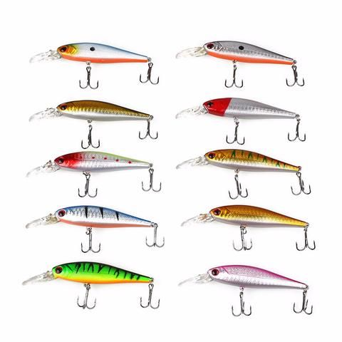 Hot Sale On These 10pcs Minnow Fishing Lures With 3D Eyes - Big Star Trading - 1
