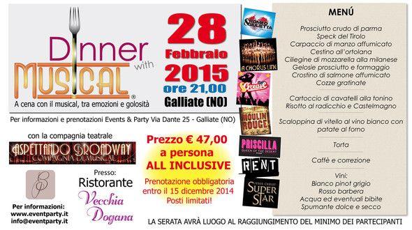Dinner with Musical 28 febbraio 2015 Galliate (NO)