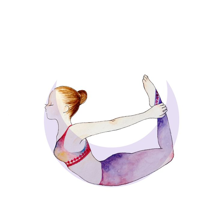 Bow Pose #yoga #illustration