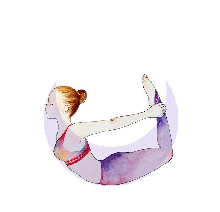 Bow Pose #yoga #illustration