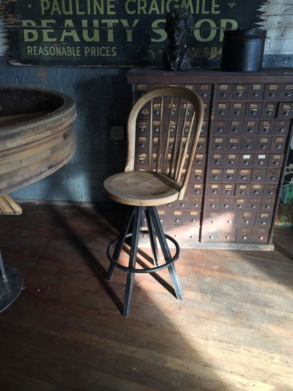 Bent Brothers Metal And Wood Drafting Industrial Assembly Line Stool 1920s