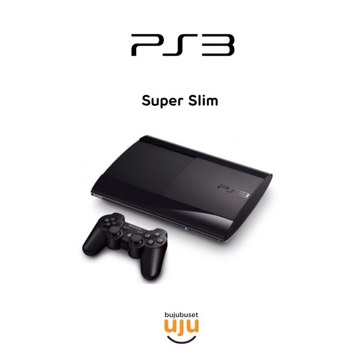 PS3 Super Slim Charcoal Black  IDR 3.000.000 tanpa kaset  IDR 3.300.000 dengan 3 kaset:  -Battlefield 4 -Fifa 14 -Beyond Two Souls