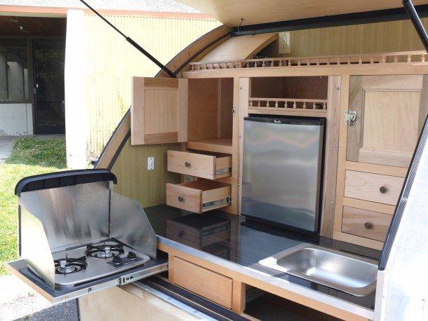 921 best images about camper tear drop on pinterest diy for Teardrop camper kitchen ideas