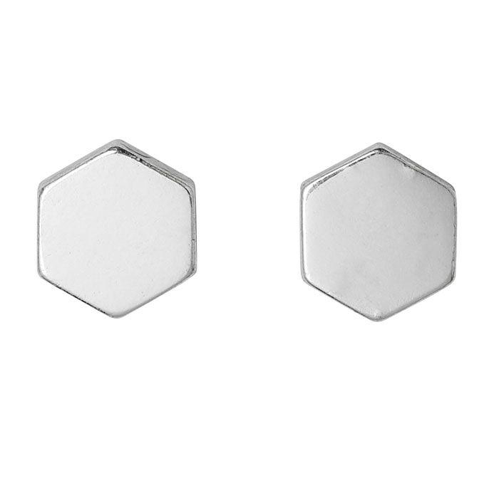 Pilgrim Jewellery Silver Plated Hexagon Earrings Only £9.99 from Lizzielane.com http://www.lizzielane.com/product/pilgrim-jewellery-silver-plated-hexagon-earrings/