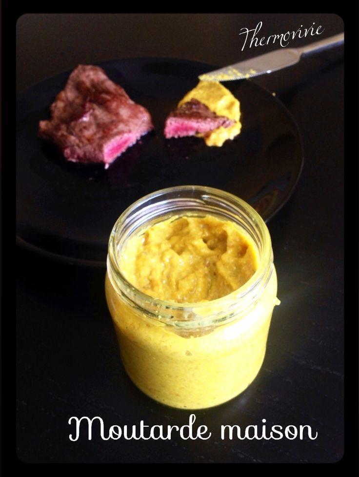 """""""Maman y a plus de moutaaaarde!!"""" Mais pourquoi n'ai je pas pensé à réaliser de la sauce moutarde maison bien avant? D'autant que c'est très facile et réalisable avec ou sans thermomix. (Un bon mixeur est largement suffisant..) Le résultat... Ça picote..."""