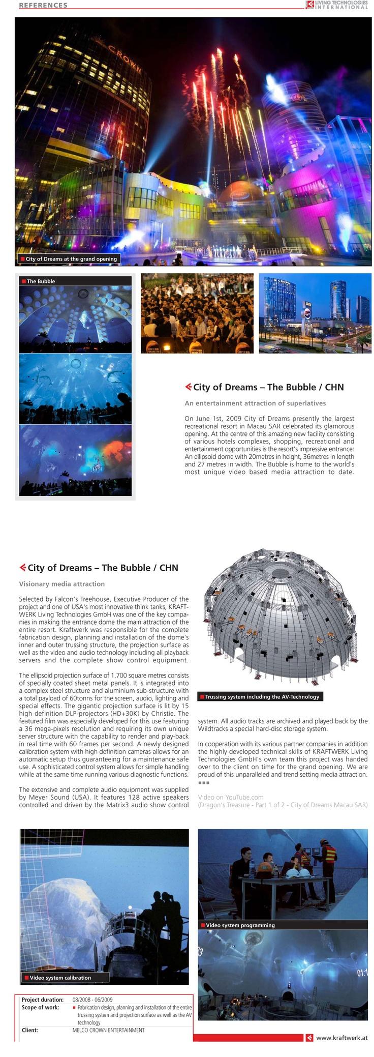 The Bubble, City of Dreams, Macau