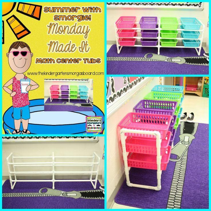 Making a PVC pipe center shelf for math tubs!