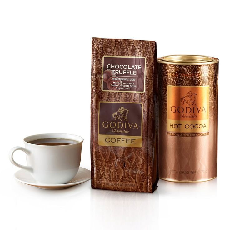 Godiva Chocolatier Chocolate Coffee & Cocoa Gift Set, Multicolor