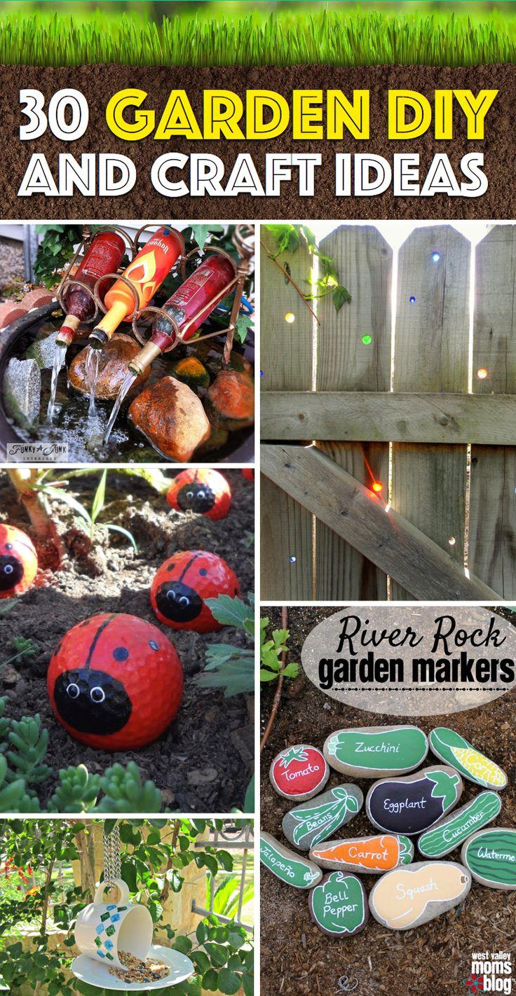 30 Garden DIY and Craft Ideas Transforming your Yard from Plain to Mesmerising #outdoor #garden #diy #crafts #summer