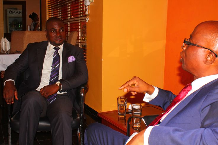 Dr Olamitoye stressing a point during Enterprise700 TV interview recording