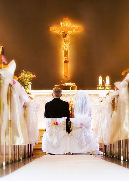 Ceremony of christian weddings