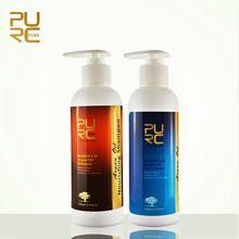 PURC Argan Oil hair shampoo and hair conditioner set free shipping  Hair Care Best hair salon product(China)  #fashion #beauty #shampoo #haircare