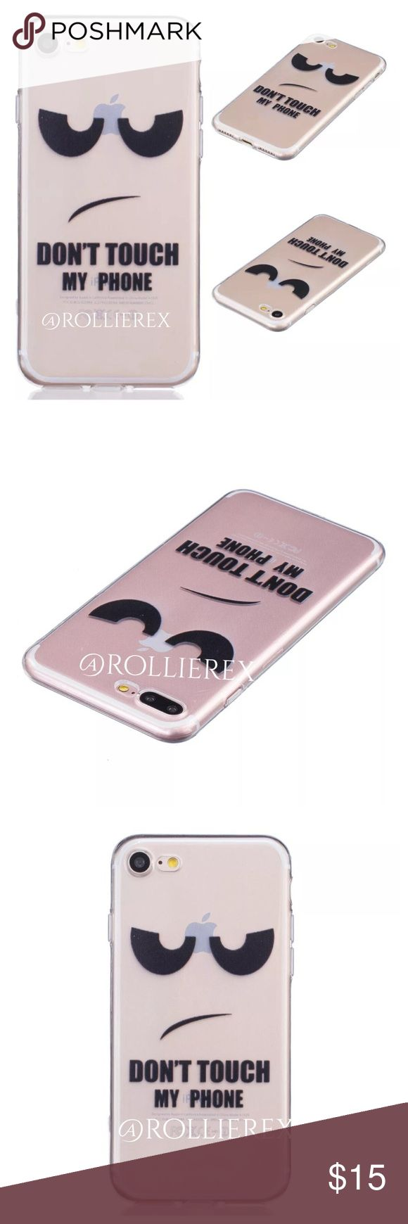 Don't Touch My Phone! Case  Soft Silicone with design on back   Protect your phone from damage and scratches   Humorous slogan  ❌ No Trades Accessories Phone Cases