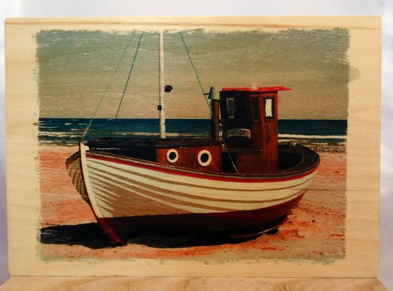 Photo picture on wood boat on wood. by VipWood on Etsy
