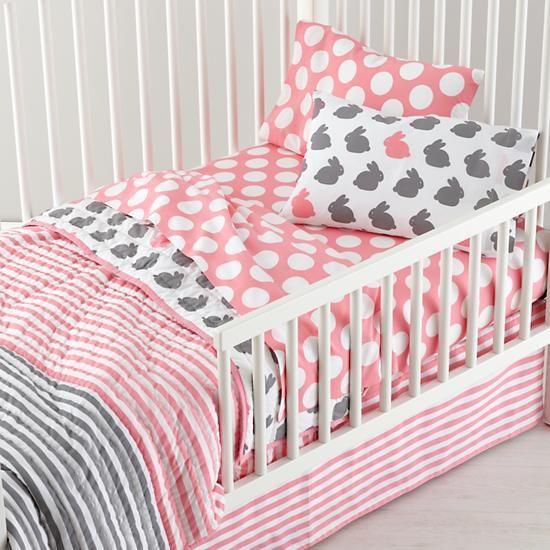 Girls bedding grey pink toddler bedding in toddler bedding the land