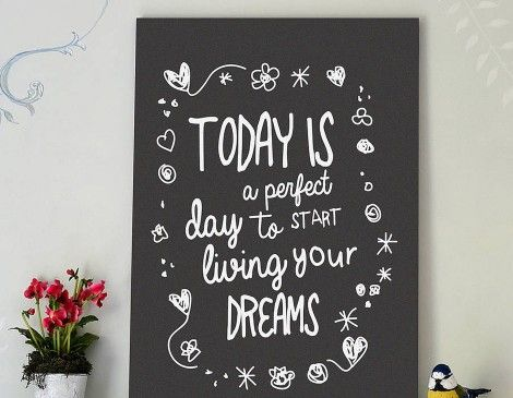 'Living Your Dreams' Typography Print | Contemporary Wall Stickers | Contemporary Wall Stickers