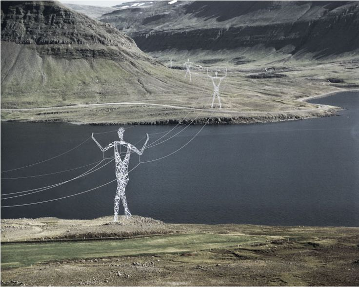 Choi+Shine Architects flawlessly transformed regular and boring electrical pylons into creative parts of the Icelandic landscape.