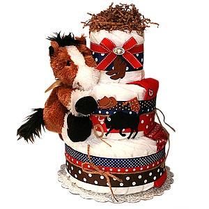 Lil' Pony Cowboy Diaper Cake