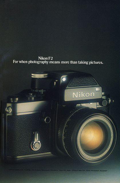 lovely advert for Nikon F2