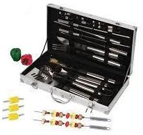 Tool Set Barbeque Grill Stainless Steel With Case 18 Pieces - BBQ Tools & Accessories