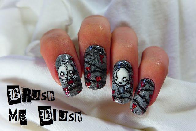 Brush me Blush: Creepy Doll Nails + Born Pretty Giveaway