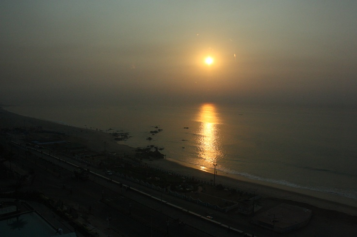 Sunrise in Vizag, India