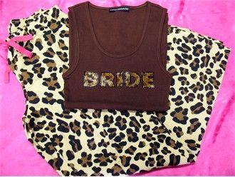 Leopard Print Pajama Pants and BRIDE Tank or Tee
