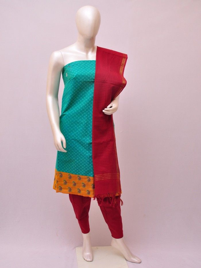 Cotton Woven Designer Dress Material [D1033212] | Pochampally Saree House
