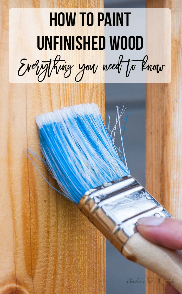 Painting raw unfinished wood furniture | how to paint furniture #paintingtechniques #ikeahacks #paintedfurniture