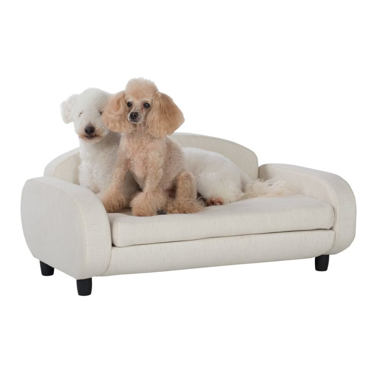 This Dog Sofa is the perfect sleek lounger for your dog or cat. The miniaturized modern sofa design blends perfectly with your home's decor. Your cool cat or hip pooch can lay and stretch comfortably on its mattress. The mattress cover is removable and machine washable so you can keep it fresh and clean.