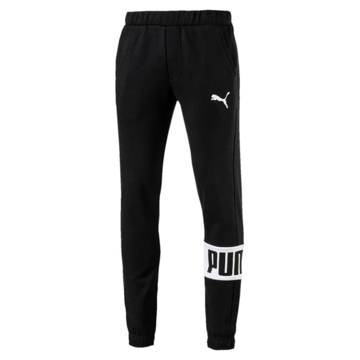 Boys 8-20 PUMA Rebel Fleece Jogger Pants, Size: Medium, Black