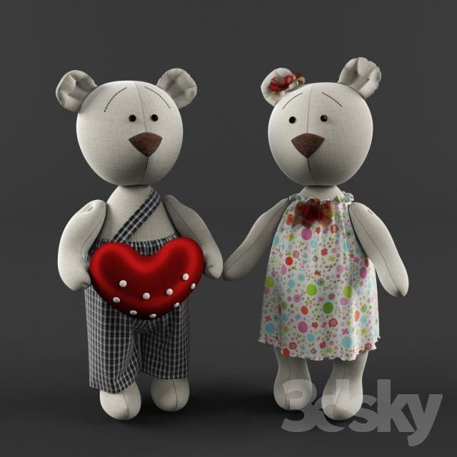 Toy Bears   3d model